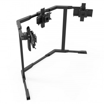 TV STAND TX40 Black - Triple 27-40 inch TV/Monitor Stand