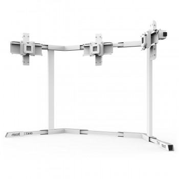 TV STAND TX40 White - Triple 27-40 inch TV/Monitor Stand