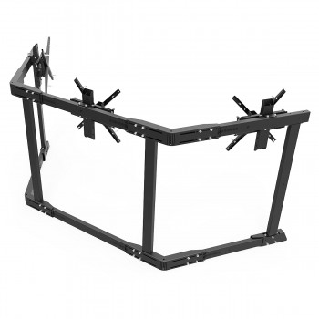 TV STAND TX60 Black - Triple 43-60 inch TV/Monitor Stand