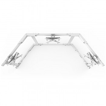 TV STAND TX60 White - Triple 43-60 inch TV/Monitor Stand