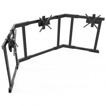 TV STAND TX90 Black - Triple 65-90 inch TV/Monitor Stand