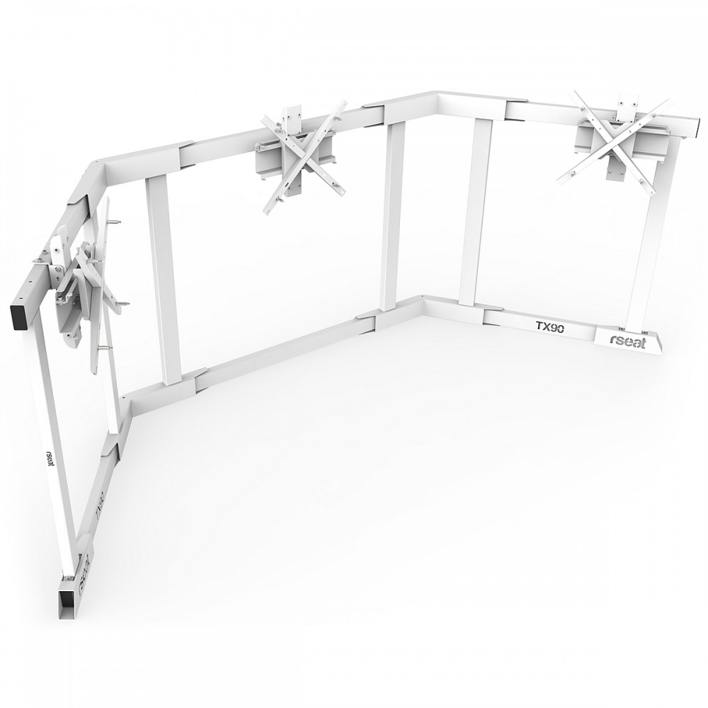 TV STAND TX90 White - Triple 65-90 inch TV/Monitor Stand