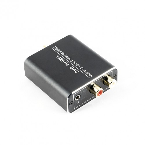 DAC Converter 192 kHz Digital/Toslink to Analog RCA L/R Audio Converter Adapter USB