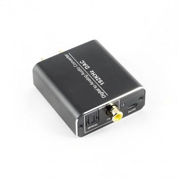 DAC Converter 192 kHz Digital/Toslink to Analog RCA L/R Audio Converter Adapter USB