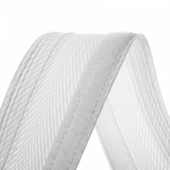 Velcro Braided Cable Flexo Wrap  18 to 31mm - 1 meter - white - organize your cables
