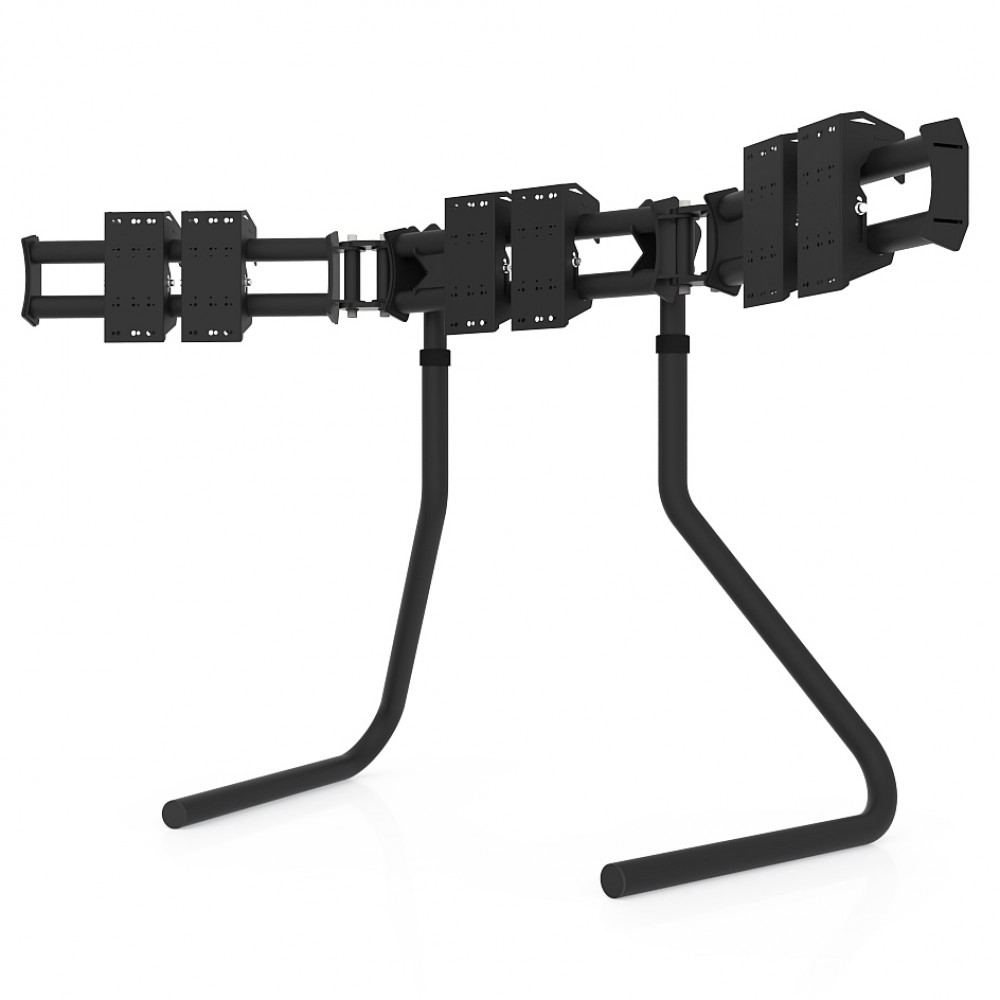 RS STAND T3L Black V2 - Triple screen up to 3x32 inch