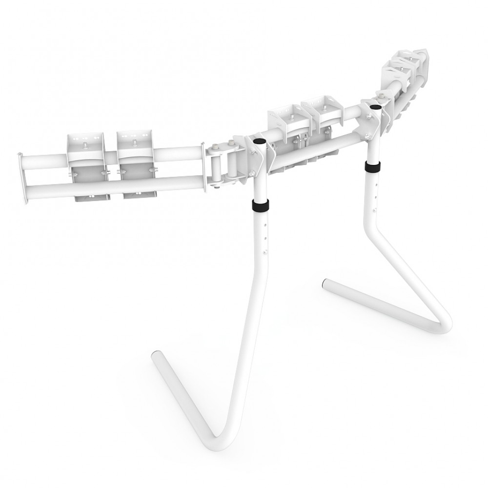 RS STAND T3L White V2 - Triple screen up to 3x32 inch