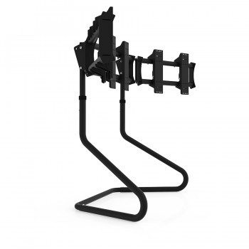 RS STAND T3XL Black V2 - TV Stand for up to 3x47inch