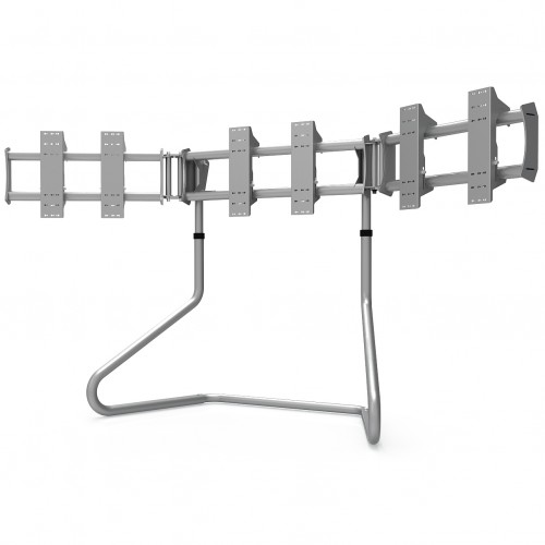 RS STAND T3XL Silver V2 - TV Stand for up to 3x47inch