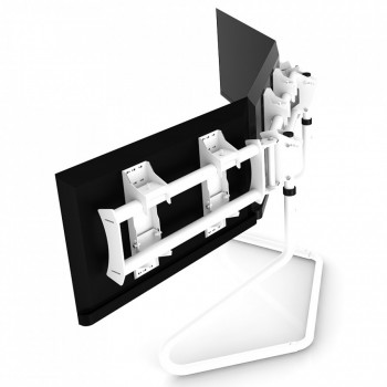 RS STAND T3XL White V2 - TV Stand for up to 3x47inch