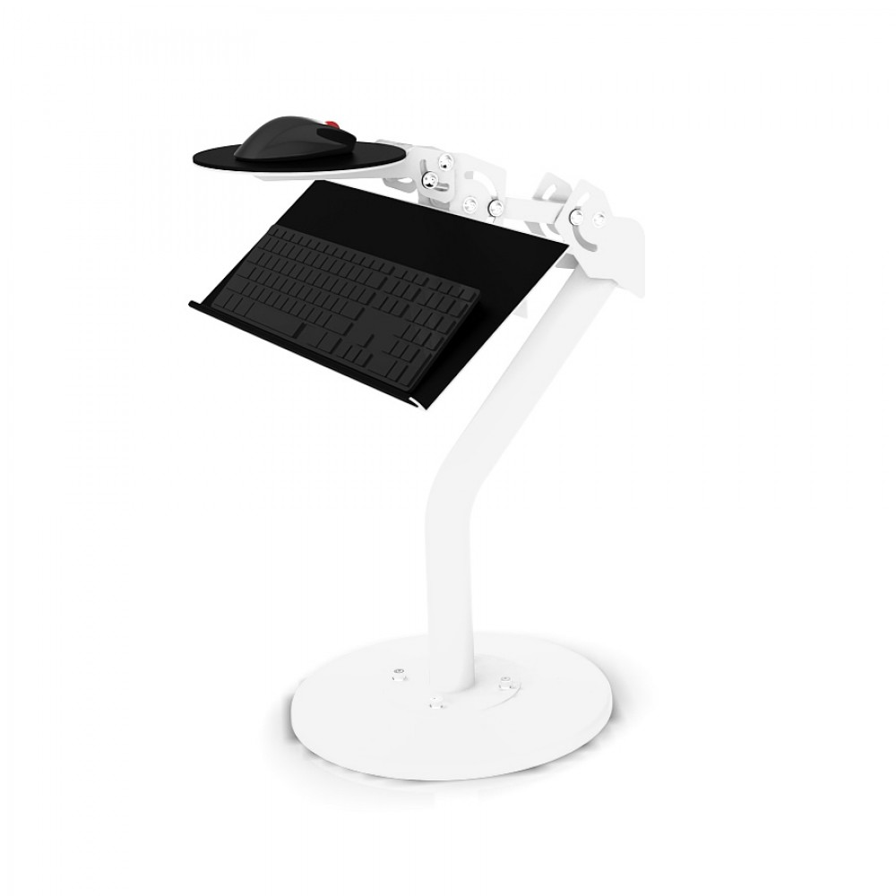 Static Keyboard and Mouse Tray White