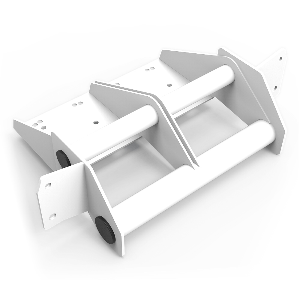 N1 Buttkicker Mount Upgrade kit White